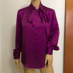 Yves Saint Laurent Purple Rive Gauche silk Blouse